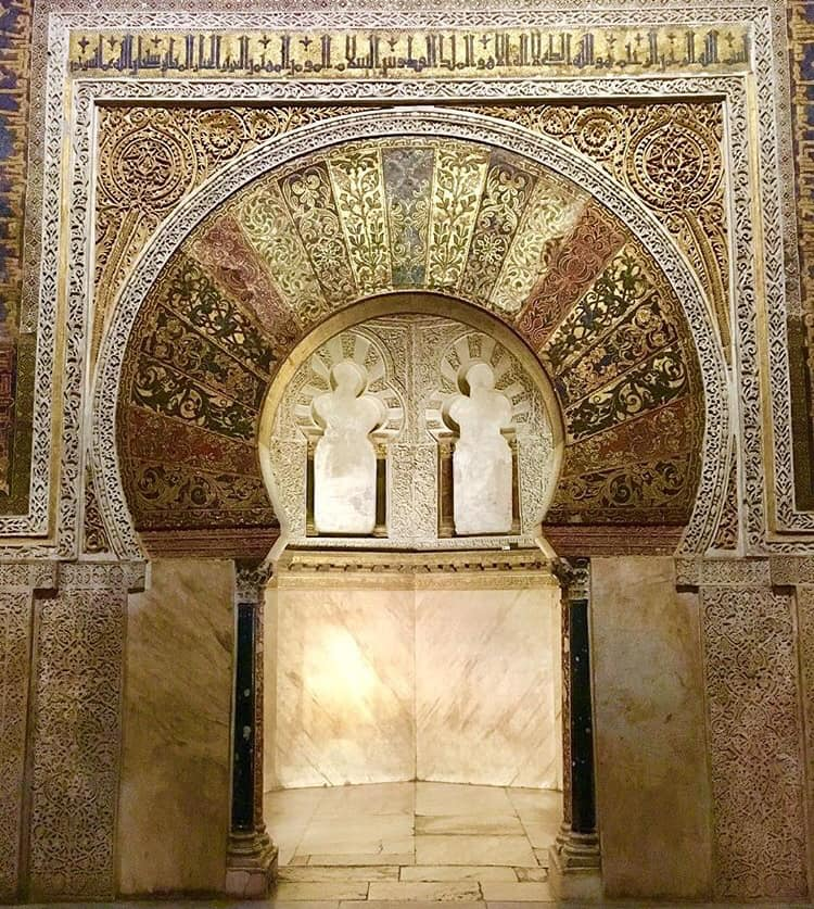 Inside the Mezquita of Córdoba