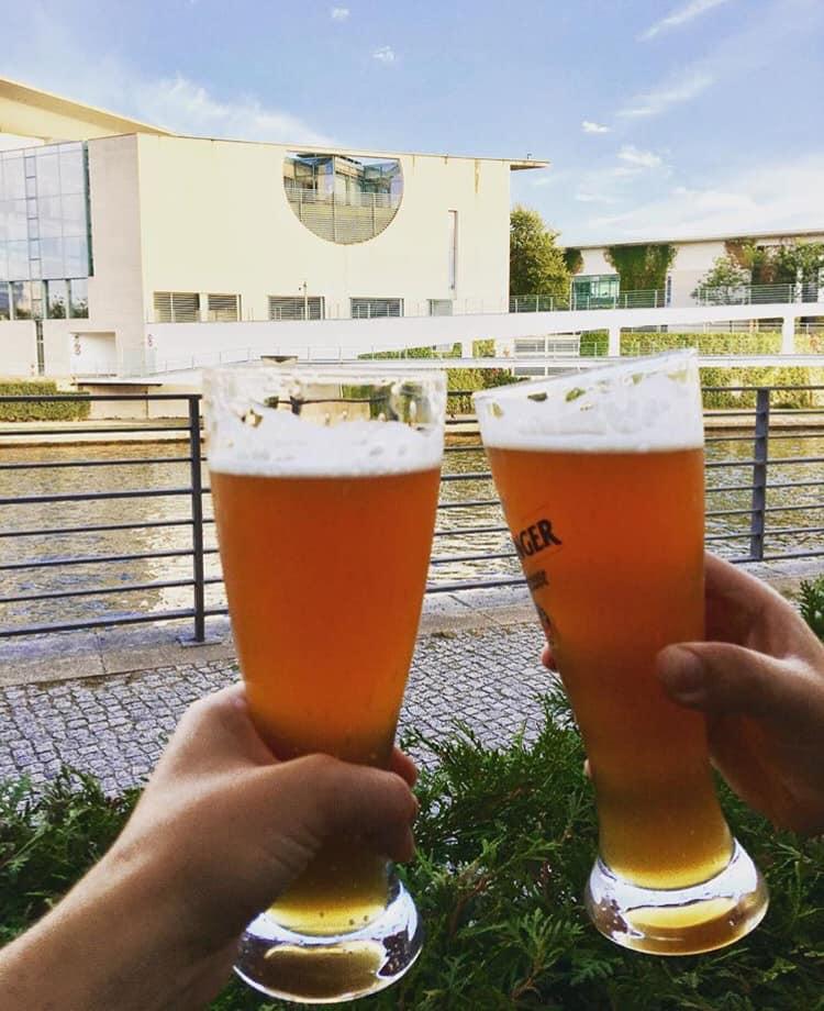 Zollpackhof beer garden in Berlin