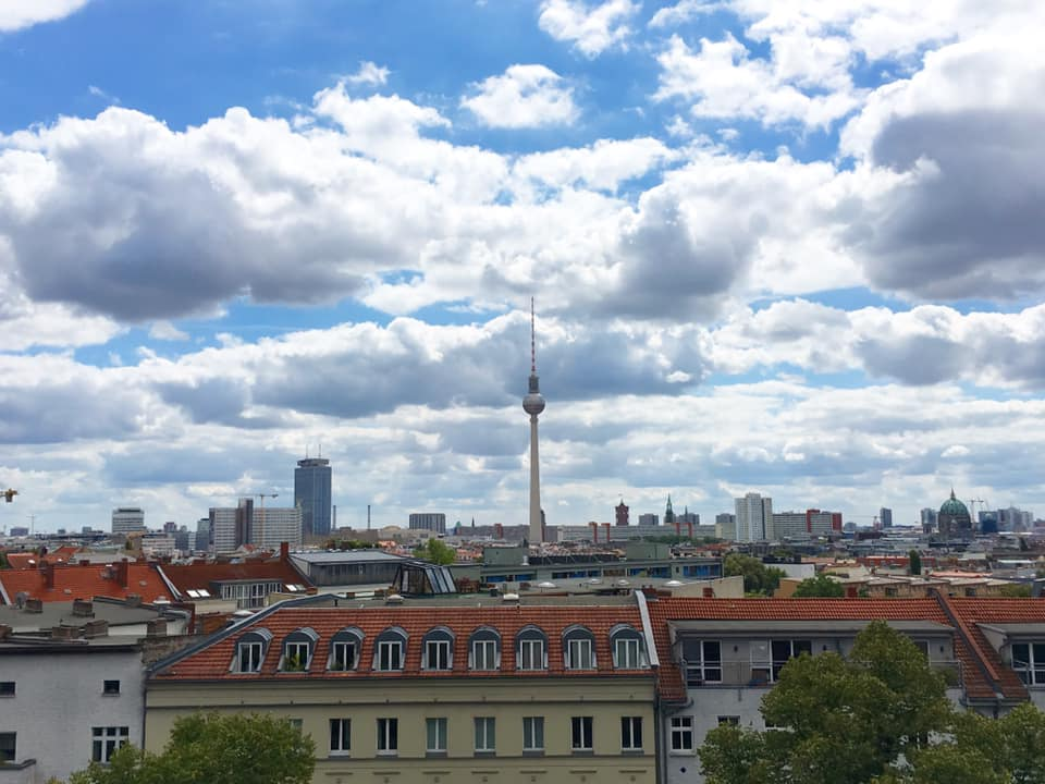 view over Berlin from Zionskirche