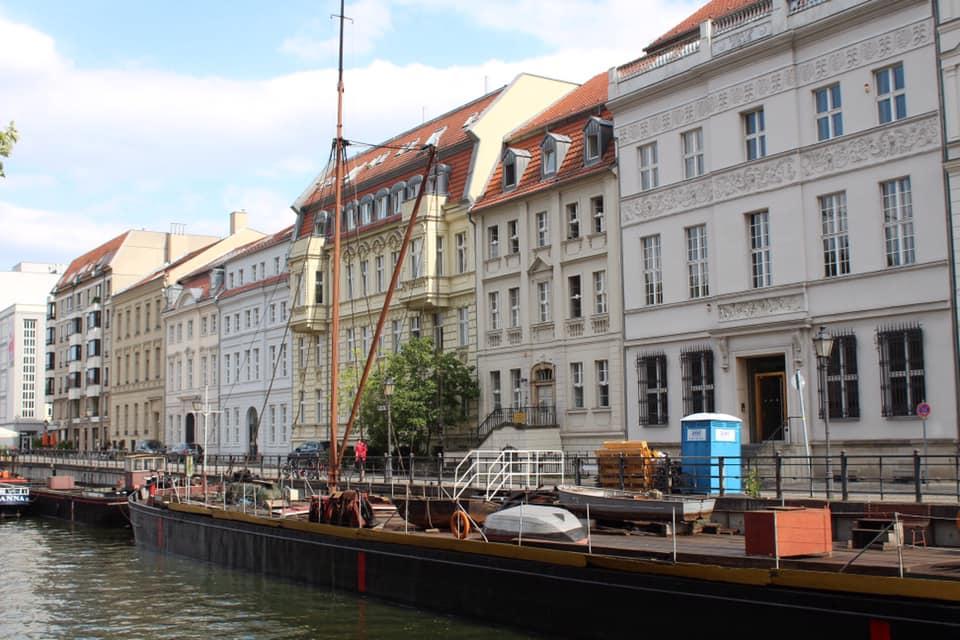 Historic harbour in Berlin