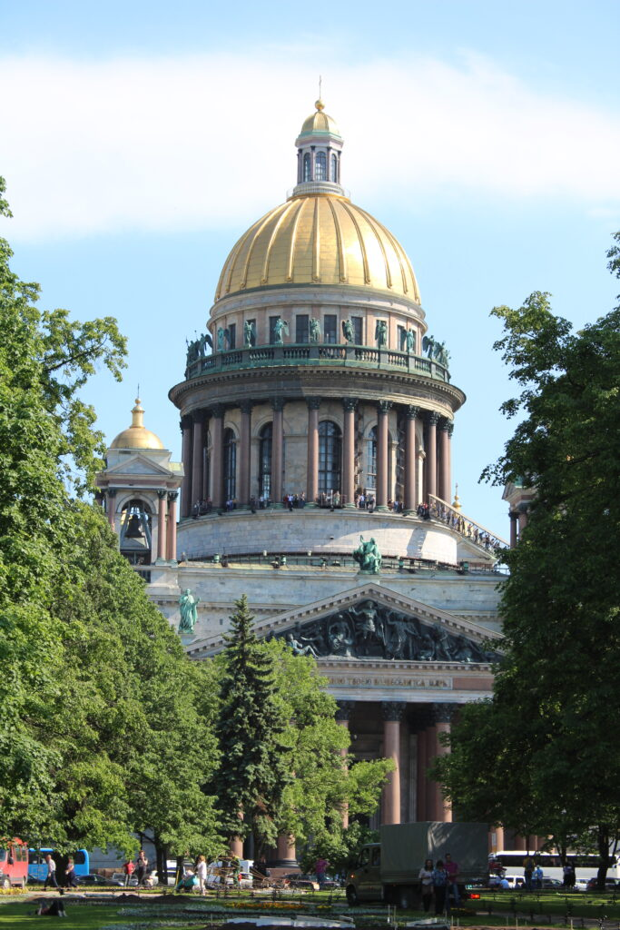 view of Saint Isaac's Cathedral in Saint Petersburg