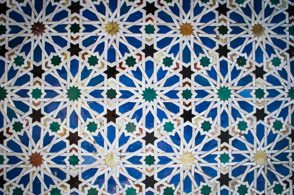 tile in the Real de Alcazar in Sevilla