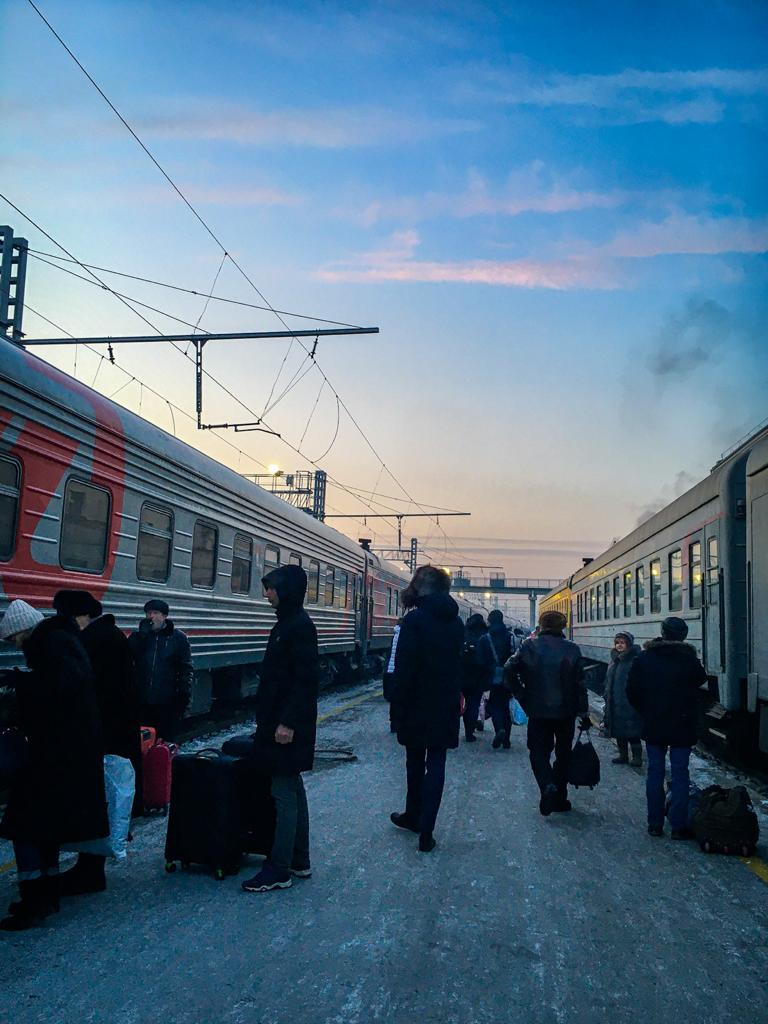 Trans-Siberian Railway Trip in the winter