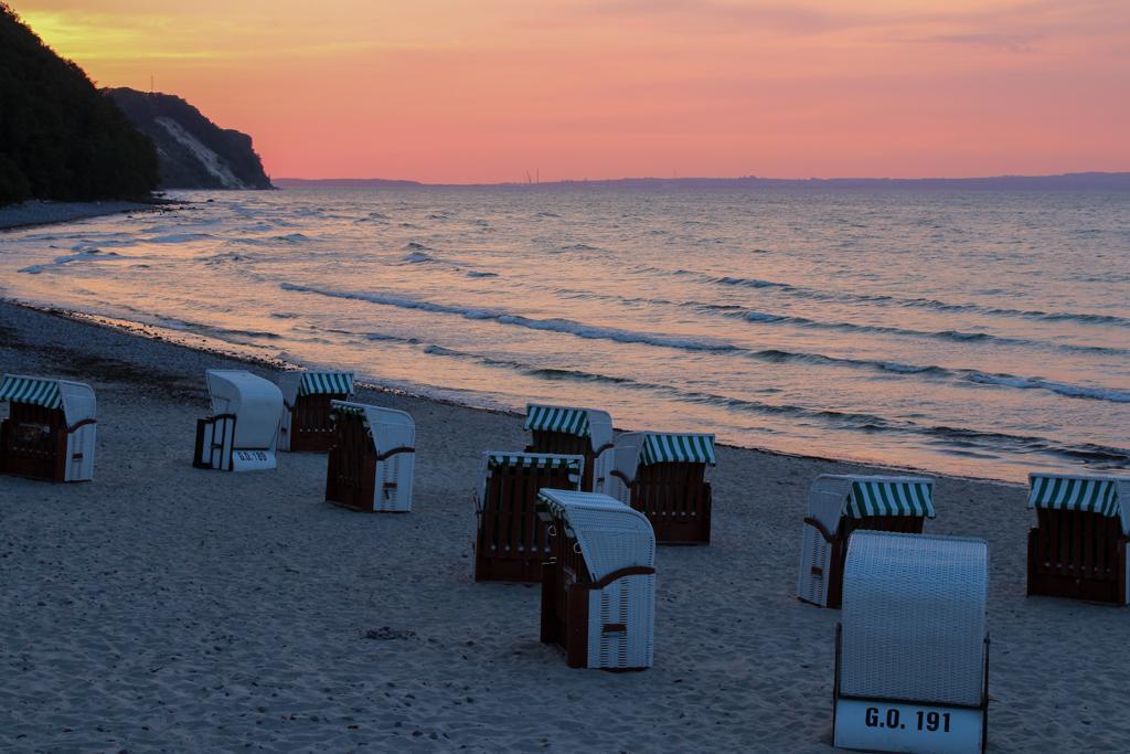 Sunset on Sellin beach on Rügen Island