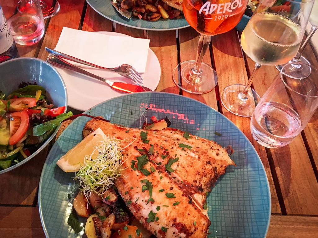 Scholle (Plaice) is often eaten on Rügen Island