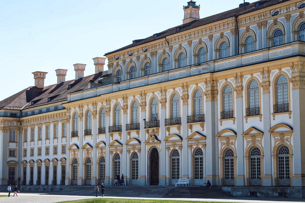 Baroque facade of Schleissheim Palace